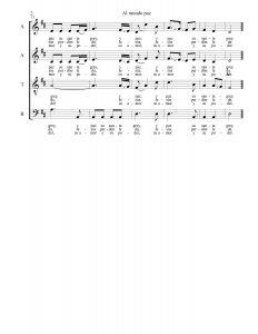 Partitura de Al mundo paz para coro 02